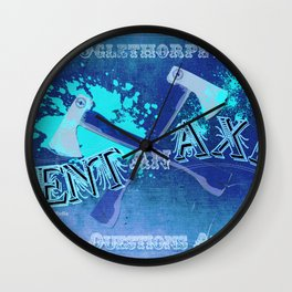 Axe Us About Our Deals! Wall Clock