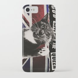 God Save The Queen Cat iPhone Case