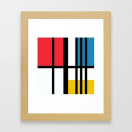 Thinking about Mondrian Framed Art Print
