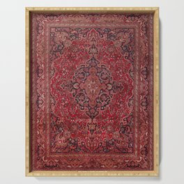 Antique Persian Red Rug Serving Tray