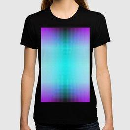 Purple Blue Black Ombre Hexagons Bi-lobe Contact binary T-shirt