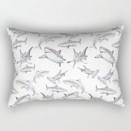 Shark-Filled Waters Rectangular Pillow