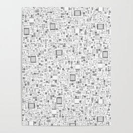 All Tech Line / Highly detailed computer circuit board pattern Poster