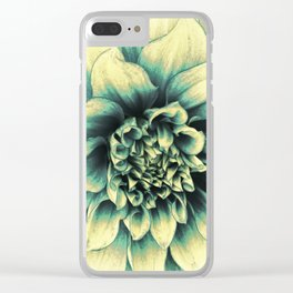 La Dahlia Blue Clear iPhone Case