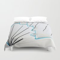 seashell Duvet Covers featuring Seashell by Sara Pfefer