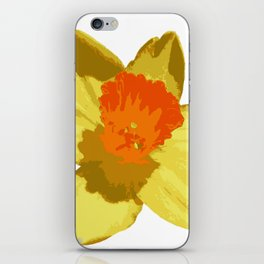 Spring Daffodil Vector Isolated iPhone Skin