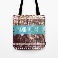 wanderlust Tote Bags featuring Wanderlust by AA Morgenstern