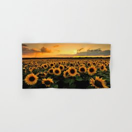 Sunflower field Hand & Bath Towel