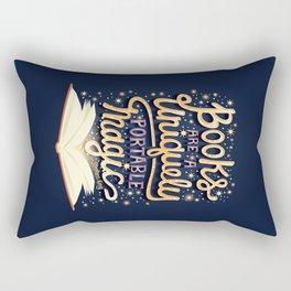 Books are magic Rectangular Pillow