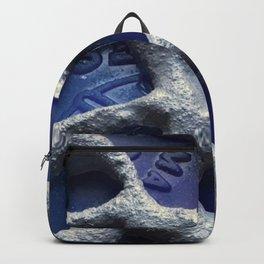 Close Up of Cobalt Mosaic Backpack