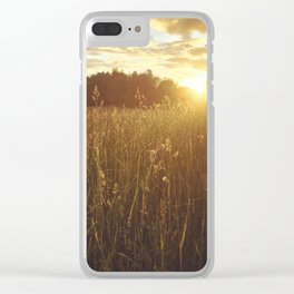 Grassland Sunset Clear iPhone Case