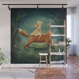 Fox Girl by Emily Winfield Martin Wall Mural