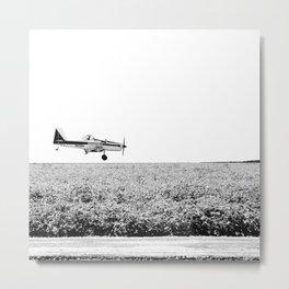 Plane Landscape Metal Print