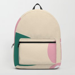 Live with love - on champagne background Backpack