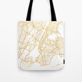 NEW YORK CITY NEW YORK CITY STREET MAP ART Tote Bag
