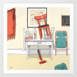 Kitchen, 3pm Art Print