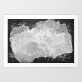 Minimal Black and White Abstract 09 Texture Art Print