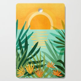 Peaceful Tropics / Sunset Landscape Cutting Board