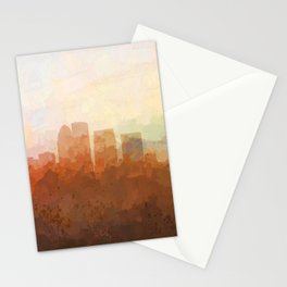 Louisville, Kentucky Skyline - In the Clouds Stationery Cards