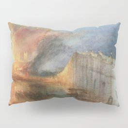 William Turner - The Burning of the Houses of Lords and Commons Pillow Sham