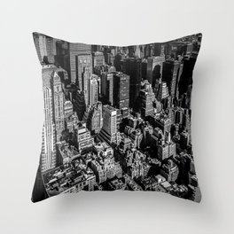 Manhattan Rooftop View Throw Pillow