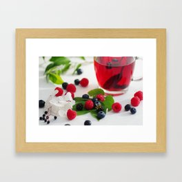 Red Berries Tea, colorful food and Drink kombination Framed Art Print