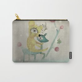 Vintage Whimsical Christmas Carry-All Pouch