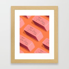 I'm Done Erasers Framed Art Print