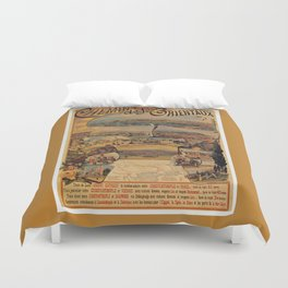 Oriental railways to Constantinople Duvet Cover
