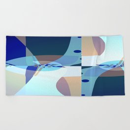 Abstract Fractal Art - Quistere- Cubism- Picasso Art Beach Towel