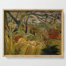 """Henri Rousseau """"Tiger in a Tropical Storm (Surprised!)"""", 1891 Serving Tray"""