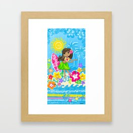 Hala beach Framed Art Print