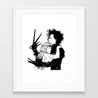 edward scissorhands Framed Art Prints featuring Edward Scissorhands by Gregory Casares