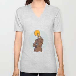 Light Bulb Head Unisex V-Neck