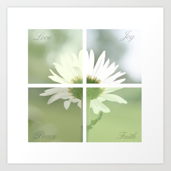 Boxed faith Daisy Art Print