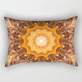 Orange Fire Mandala art - solar plexus chakra Rectangular Pillow