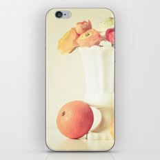Milk Glass, Tangerine and Flowers iPhone & iPod Skin