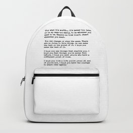 F Scott Fitzgerald quote Backpack