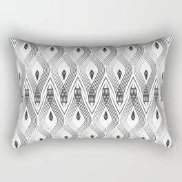 Art Deco 56 . black and gray spiral . Rectangular Pillow