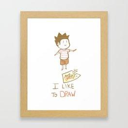 I like to DRAW Framed Art Print