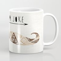 moustache Mugs featuring moustache by Manoou