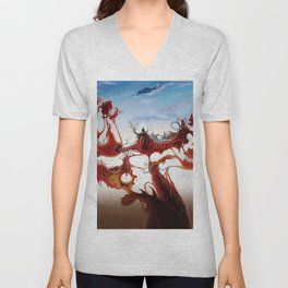 paint fantasy world surrealism Unisex V-Neck