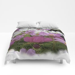Colorful Asters Comforters