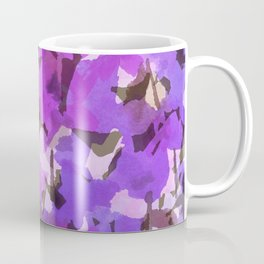 Red Violet Field Flowers Coffee Mug