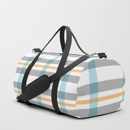 Stripe art in soft colors Duffle Bag