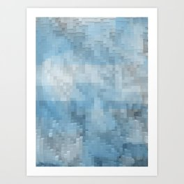 Abstract blue pattern 3 Art Print