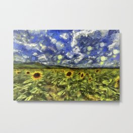 Summer Sunflowers Van Gogh Metal Print