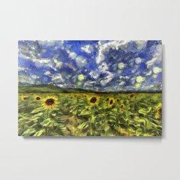 Summer Sunflowers Van Gogh Metal Print