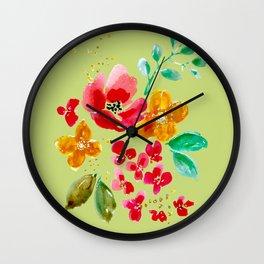 Poppy Bouquet Wall Clock