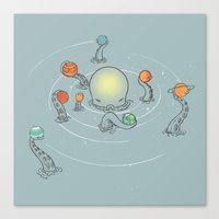 solar system Canvas Prints featuring Solar System by I Love Doodle